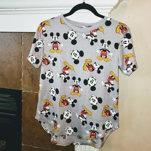 Mickey Mouse Short Sleeve All Over Print T Shirt